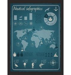 Nautical infographic set vector