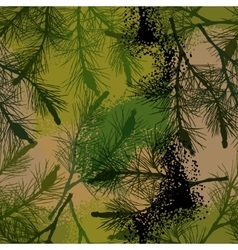 Pine branch seamless pattern camouflage summer vector image vector image