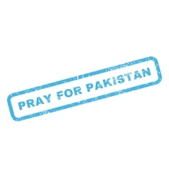 Pray for pakistan rubber stamp vector