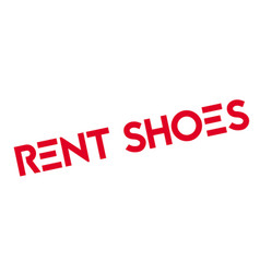 Rent shoes rubber stamp vector