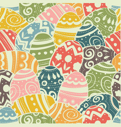 seamless easter eggs pattern pastel colors vector image