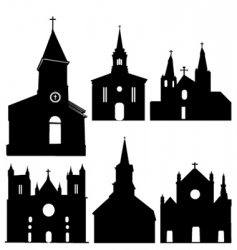 Silhouette of church vector