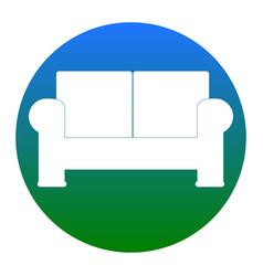 Sofa sign white icon in vector