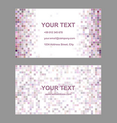 Square mosaic business card template design vector