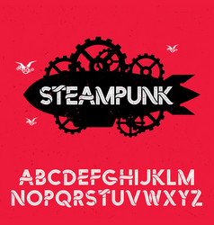 Stylish design steampunk poste vector