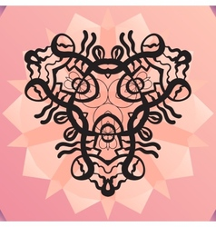 Stylized kaleidoscope medallion yoga india vector
