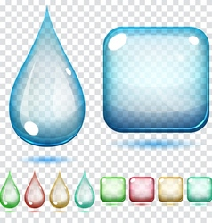Transparent glass shapes vector image vector image