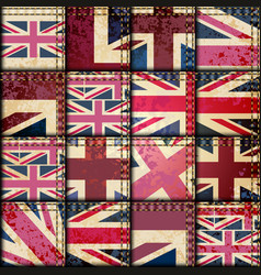 vintage london pattern vector image vector image