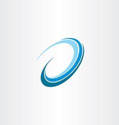 Wave water flow design icon logo vector