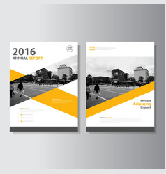 Yellow annual report leaflet brochure flyer vector