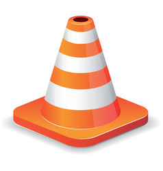 Traffic cone icon vector