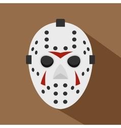 Hockey mask icon flat style vector image