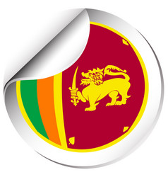 flag icon design for sri lanka vector image
