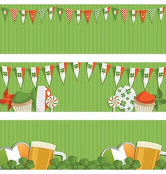 Irish banners vector
