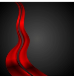 Dark red futuristic waves background vector