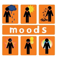 Business moods vector