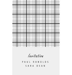 Minimal invitation card or ticket vector