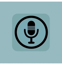 Pale blue microphone sign vector