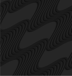 Black 3d diagonal waves vector
