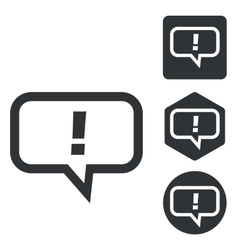 Answer message icon set monochrome vector