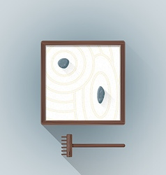 Flat table zen garden icon vector