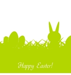 Green easter rabbit eggs and grass vector