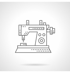 Sewing machine icon flat thin line icon vector