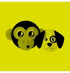 Animal face design cartoon icon vector