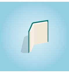 Open book stands upright icon isometric 3d style vector