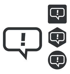 Answer message icon set monochrome vector