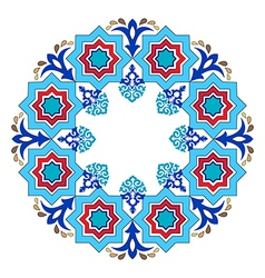 Antique ottoman turkish pattern design eight vector