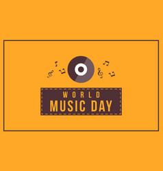 background style world music day collection vector image