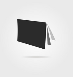 black journal icon with shadow vector image