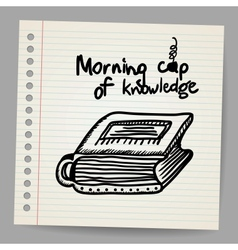 Book-cup doodle concept vector image vector image