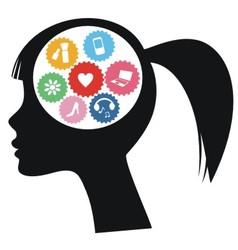 brain of woman vector image
