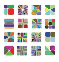 Colour elements for pattern construction vector