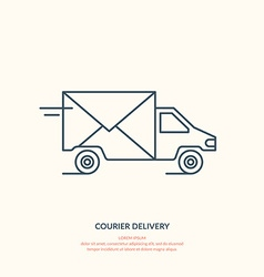 Courier delivery vector image vector image