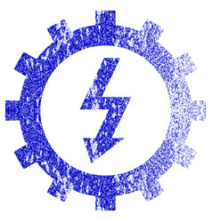 Electric energy cog wheel textured icon vector