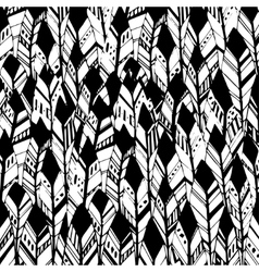 Feather background retro pattern ethnic vector image vector image