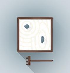 flat table zen garden icon vector image vector image