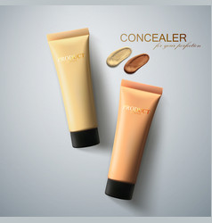 foundation cream packaging design vector image vector image