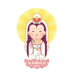 Guanyin goddess of mercy vector