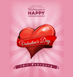 Happy valentines day postcard vector