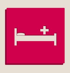 Hospital sign grayscale vector