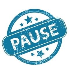 Pause round stamp vector