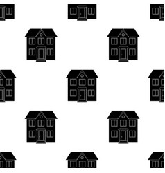 Private cottagerealtor single icon in black style vector