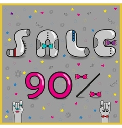 Sale ninety percents vector