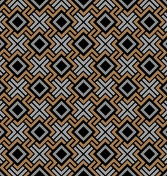 Seamless geometric pattern in celtic style vector