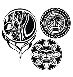 Set of tattoo elements vector image