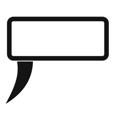 Speech bubble icon simple style vector